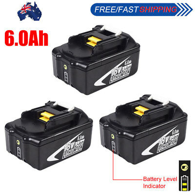 For Makita 18V 5.0/6.0Ah Li-ion Battery with Rapid Charger DC18RC for BL1850