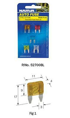 Narva Mini Blade Fuse 2Amp Pack of 5 52702BL Free Shipping!
