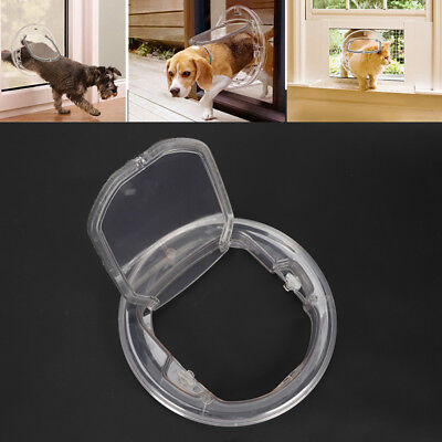 Cat Door with 4Way Locking for Pet Glass Door glass Window Entry Exit Small Dog