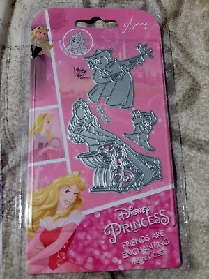 DISNEY PRINCESS - FRIENDS ARE ENCHANTING - DIE SET with face stamp
