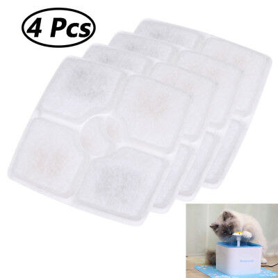 Replacement Charcoal Filters 4 Packs for Pet Automatic Water Dispenser Fountain