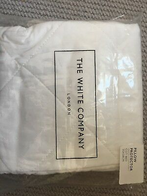The White Company 100% Cotton Cot Bed Anti-Allergy Pillow Protector