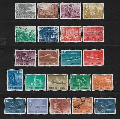 INDONESIA 1960 Agricultural Products, 1964 Transport set, + opts, used