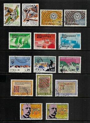 ITALY mixed collection, 1971 & 1972 x 6 sets, used