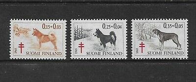 FINLAND 1965 Tuberculosis Relief Fund, Dogs, mint set of 3, MNH MUH