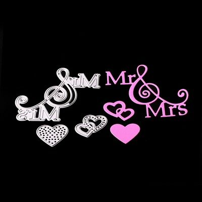Mr & Mrs Love Metal Cutting Dies Stencil for Scrapbooking Card Embossing Decor