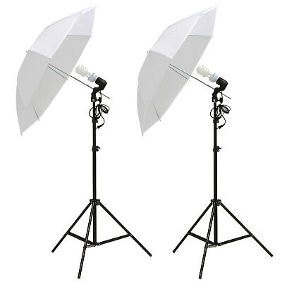 "Dakavia 2x 33"" Photography White Umbrella Reflector Lamp Stand Lighting Kit"