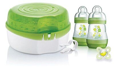 MAM Microwave Steam Steriliser Kit Includes 2x160ml Bottle,1x Dummy & Teat Tongs