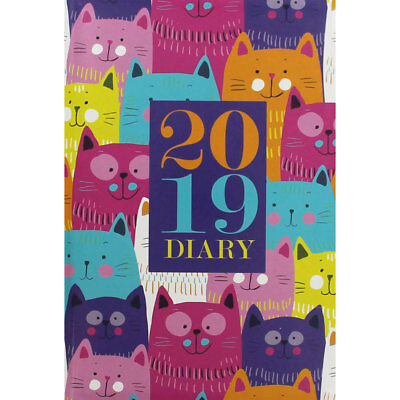 A5 Cats 2019 Diary - Week to View (Hardback), Stationery, Brand New