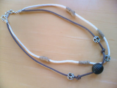 12 mens double row cord necklace/pendant new.