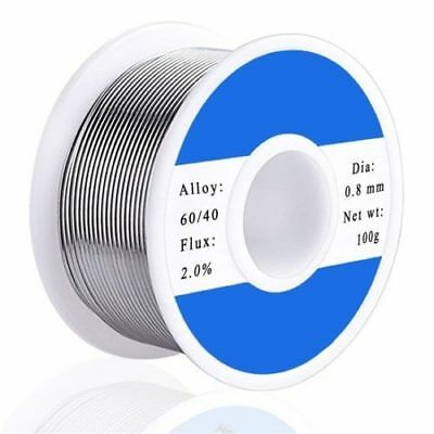 0.8mm 60%/40% Sn/Pb Tin Lead Rosin Core Solder Wire Electrical Soldering 100g *