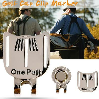 Magnetic Cap Clip Removable Metal Golf Aiming Ball Marker Set PRO Golf Training