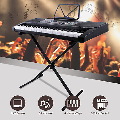 Kenwell 61 Key Music Digital Electronic Keyboard with Stand Electric Piano Organ