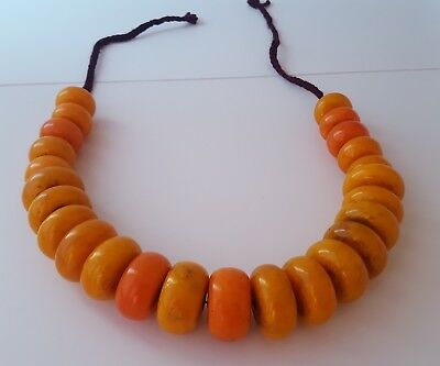 Amber Copal Berber Beautiful Moroccan Collier  Ethnisch Kette Optik
