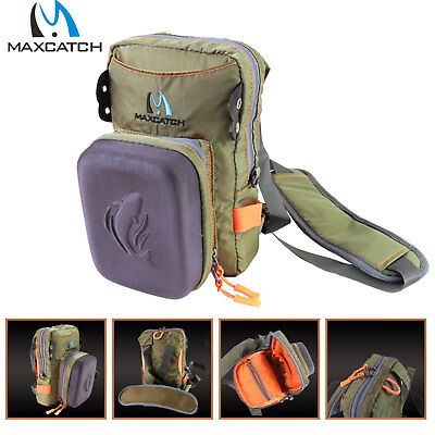 Maxcatch Tackle Bag Chest Bag Waist Pack with Molded Fly Bench For Fly Fishing