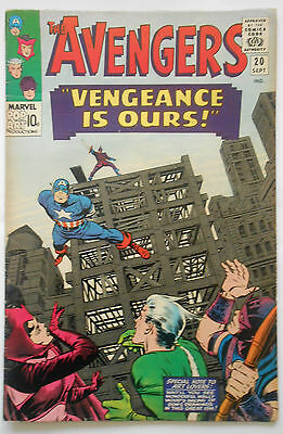 AVENGERS #20 - SEPT 1965 - 2nd SWORDSMAN - HIGH GRADE - VFN- (7.5)