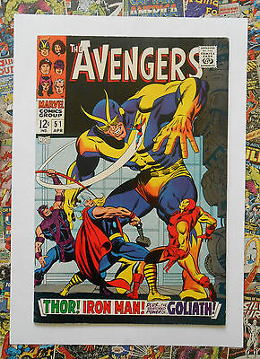 Avengers #51 - Apr 1968 - Collector Appearance - Vfn/nm (9.0) Un-Stamped Cents!!