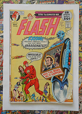 The Flash #210 - Nov 1971 - Elongated Man Appearance! - Vfn- (7.5) Cents Copy