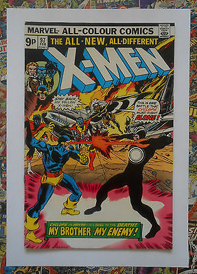 X-Men #97 - Feb 1976 - 1St Polaris! - High Grade - Vfn+ (8.5) Pence Copy!