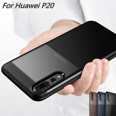 Luxury Carbon Fiber Shockproof  Cover Case For Huawei P20 Lite P20 Pro Nova 3E