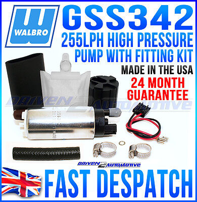 High Performance Fuel Pump, Walbro 255Lph, Saab Next Day Uk On Sale Now With Kit