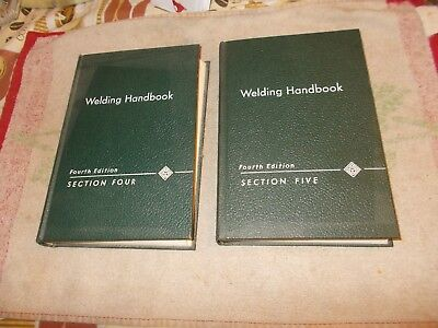 2    Welding   Handbooks   Fourth  Edition   Section   4 +  5   1960+1961  Hc