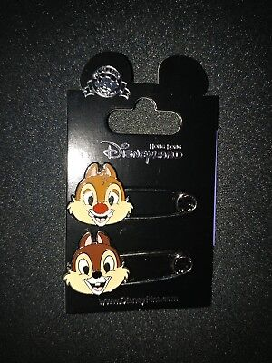 Disney Hong Kong HKDL Pin- Safety Pin - Chip and Dale (2 Pin Set) #107474