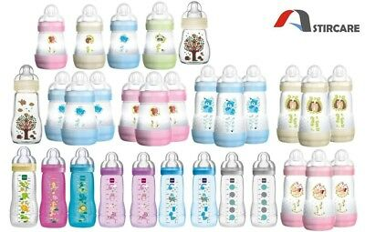 MAM Easy Active Baby Bottle Anti-Colic, Glass Bottle Set - 1,2 or 3 Pack