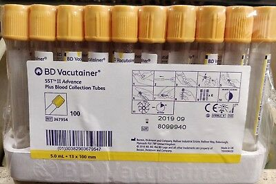 BD Vacutainer SST II Advance plus blood collection tubes 5.0ml*13x100mm 367954