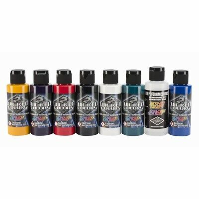 W102 -  Wicked Colors Sample Set - Airbrush Paints - 8 x 60ml