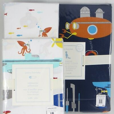 Pottery Barn Kids・3-Pc. Submarine TODDLER Duvet Cover, Crib Sheet & Case・NWT