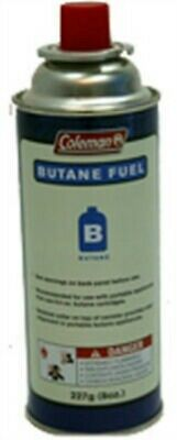 8OZ Butane Canister, PartNo 9701-700, by Coleman Co-Fuel, Pack of 12