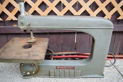 Vintage HOMECRAFT-DELTA 16″ SCROLL-JIG SAW MODEL 40-110 Cast Iron Made.