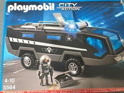 playmobil 5564 sek einsatztruck blink licht polizei. Black Bedroom Furniture Sets. Home Design Ideas