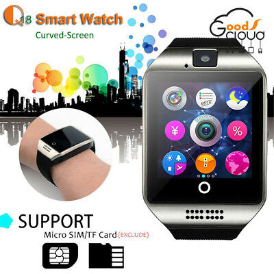 Q18S Waterproof Bluetooth Smart Watch Phone Mate Sports For Android HTC Samsung