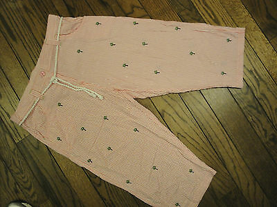 Natalie & Me Pink and White Seersucker Cropped Pants         Size PXL