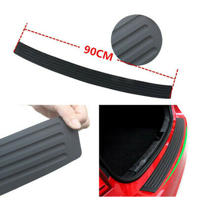 1PC Accessories Rubber Sheet Car Rear Guard Bumper 4D Sticker Panel Protector