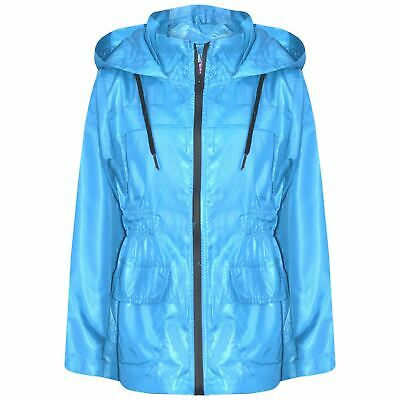 Kids Girls Boys Raincoats Jackets Aqua Lightweight Hooded Cagoule Rain Mac 5-13Y