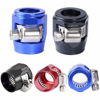 Aluminum Hex AN Oil Fuel Hose Magna Clamp Finisher Adapter Fitting Connectors