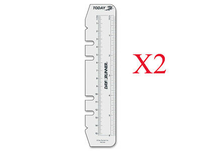 New - 2 Pack Day Runner Planner Page Marker Ruler Size 3 Planner Accessories