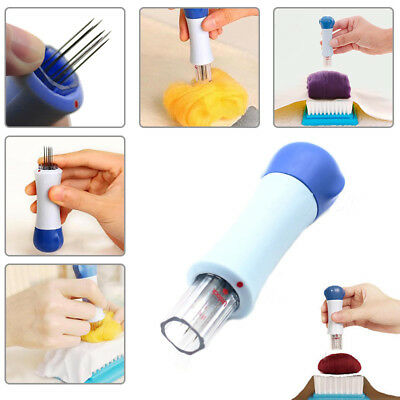 7 Needles Poke Embroidery Craft Thorn Cloth Blue DIY Wool Needle Felting Tools