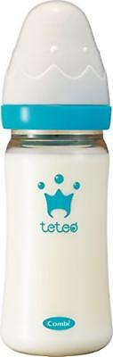 Combi Japan Teteo Baby Bottle plastic 240ml M size with nipples 2-18 months*