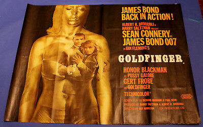 GOLDFINGER Original British Quad James Bond 007 Sean Connery