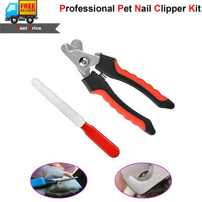 Pet Dog Cat Professional Nail Toe Trimmer Clipper Grooming Tools Stainless Steel