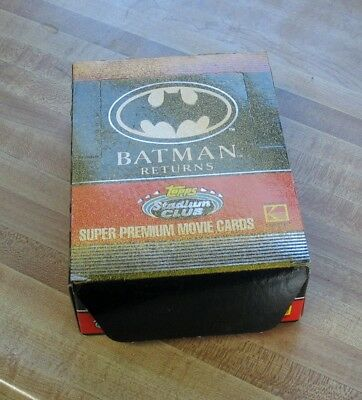 Batman Returns Super Premium Movie Trading Cards Box -36 Packs Count by Topps