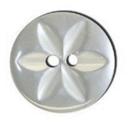 1000x Polyester Star Button Bulk 26 lignes/16mm Pearl White Only Tool