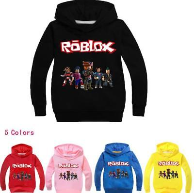 Roblox Cartoon Kids Hoodies Child Sweatshirt Clothing Sweater Coat 2-11Years