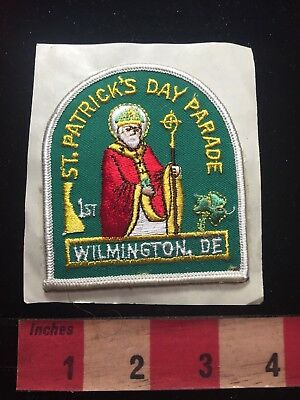 1st ST. PATRICKS DAY PARADE Wilmington Delaware Patch - Sticky Back S81N