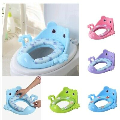 Potty Seat Kid Toddler Baby Child Potty Toilet Trainer Training Seat With Handle