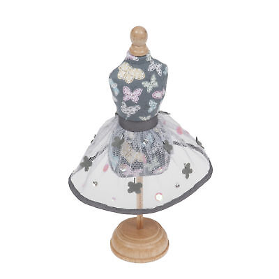 1x Classic  Pincushion Dressform Stitched Butterflies Sewing Craft Tool